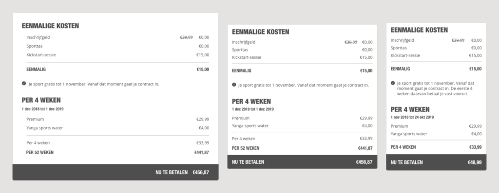 Mobile, tablet and desktop versions of the receipt
